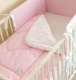 Одеяло детское Martoo Basik / BS-PN/GR (розовый/серый/звезды на белом) -