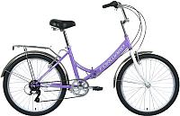 Велосипед Forward Valencia 24 2.0 2020 / RBKW0YN46007 (16, фиолетовый/серый) -