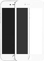Защитное стекло для телефона Case 3D для iPhone 6/6S (белый глянец) -