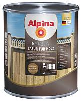 Лазурь для древесины Alpina Aqua Lasur fuer Holz (750мл, натуральный орех) -