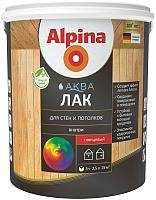 Лак Alpina Аква для стен и потолков (900мл, шелковисто-матовый) -