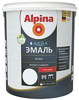 Эмаль Alpina Аква глянцевая (900мл, белый) -