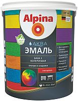 Эмаль Alpina Аква колеруемая. База 1 (900мл, шелковисто-матовый) -