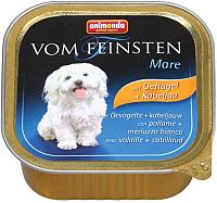 Корм для собак Animonda Vom Feinsten Mare с домашней птицей и треской / 82977 (150г) -