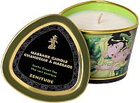Эротическое массажное масло Shunga Zenitude зеленый чай / 274511 (170мл) -