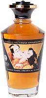 Эротическое массажное масло Shunga Caramel Kisses разогревающее / 2215 (100мл) -