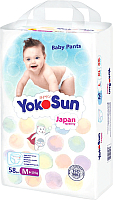 Подгузники-трусики детские YokoSun М от 6 до 10кг (58шт) -