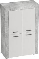 Тумба Мебельград Осло с 4 дверцами (бетон/кашемир) -