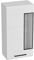 Шкаф навесной Мебельград Кёльн (белый аляска/белый глянец) -