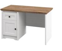 Письменный стол Мебель-Неман Тиволи МН-035-27 (белый структурный/дуб стирлинг) -