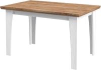 Обеденный стол Мебель-Неман Тиволи МН-035-33 (белый структурный/дуб стирлинг) -