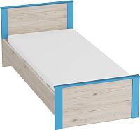 Каркас кровати Мебельград Скаут (дуб бонифаций/софт тач индиго) -