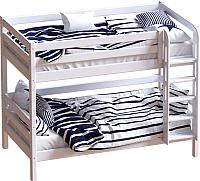 Двухъярусная кровать детская Мебельград Авалон (восковая эмаль) -