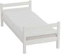 Односпальная кровать Мебельград Соня вариант 1 (массив березы белый) -