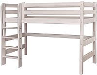 Кровать-чердак Мебельград Соня вариант 5 (массив сосны белый) -