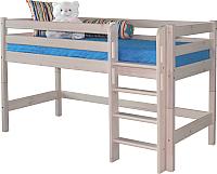 Кровать-чердак Мебельград Соня вариант 11 (массив сосны белый) -