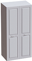 Шкаф Мебельград Соня 2-х дверный 100x52x202 (массив сосны белый/лиственница сибирская/айс 06) -