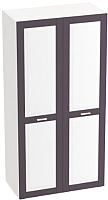 Шкаф Мебельград Соня 2-х дверный 100x52x202 (массив сосны лаванда/лиственница сибирская) -