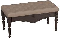 Банкетка Мебельград Лилль (массив берёзы орех темный) -