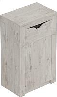 Тумба Мебельград Соренто с дверцей и ящиком (дуб бонифаций/кофе структурный матовый) -