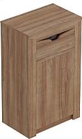 Тумба Мебельград Соренто с дверцей и ящиком (дуб стирлинг/кофе структурный матовый) -