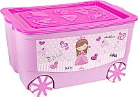 Ящик для хранения Эльфпласт KidsBox EP449 (розовый) -