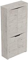 Шкаф Мебельград Соренто 2-х дверный 107x38.5x210 (дуб бонифаций/кофе структурный матовый) -