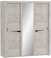 Шкаф Мебельград Соренто с раздвижными дверями 194x62x220 (дуб бонифаций/кофе структурный матовый) -