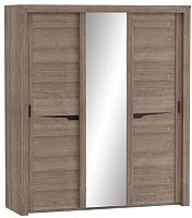 Шкаф Мебельград Соренто с раздвижными дверями 194x62x220 (дуб стирлинг/кофе структурный матовый) -