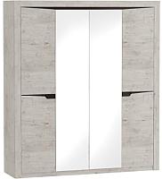 Шкаф Мебельград Соренто 4-х дверный 196.5x54.5x220 (дуб бонифаций/кофе структурный матовый) -