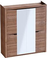 Шкаф Мебельград Соренто 4-х дверный 196.5x54.5x220 (дуб стирлинг/кофе структурный матовый) -