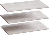 Комплект полок вкладных Мебельград Для 4-х дверного Соренто 196.5x54.5 (3шт, дуб бонифаций/кофе структурный матовый) -