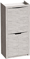 Шкаф Мебельград Соренто 2-х дверный 106.5x54.5x220 (дуб бонифаций/кофе структурный матовый) -