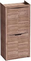 Шкаф Мебельград Соренто 2-х дверный 106.5x54.5x220 (дуб стирлинг/кофе структурный матовый) -