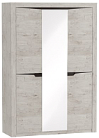 Шкаф Мебельград Соренто 3-х дверный 152x54.5x220 (дуб бонифаций/кофе структурный матовый) -