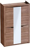 Шкаф Мебельград Соренто 3-х дверный 152x54.5x220 (дуб стирлинг/кофе структурный матовый) -