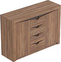 Тумба Мебельград Соренто с 4 ящиками и 2 дверцами (дуб стирлинг/кофе структурный матовый) -