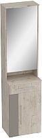 Секция в прихожую Мебельград Фан 550 с зеркалом (дуб бонифаций/мокко глянец) -