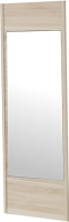 Дверь Мебельград Леон 590 с зеркалом (дуб сонома) -