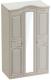 Шкаф Мебельград Николь 3-х дверный 132x56x227 (ясень жемчужный/ваниль) -