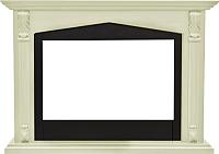 Портал для камина Смолком Praga FS33/FS33W (белый ваниль/черный) -