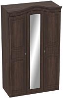 Шкаф Мебельград Николь 3-х дверный 132x56x227 (дуб сонома шоколад/акация) -