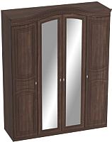 Шкаф Мебельград Николь 4-х дверный 176x56x235 (дуб сонома шоколад/акация) -