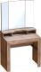 Туалетный столик с зеркалом Мебельград Соренто (дуб стирлинг/кофе структурный матовый) -