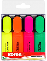 Набор маркеров Kores Bright Liner / 36140.01 (4шт) -