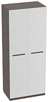 Шкаф Мебельград Виго 2-х дверный 92x56x220 (венге/белый дым) -