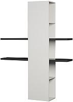 Полка Мебель-КМК Альда 0782.10 (черный глянец/белый глянец) -