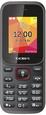 Мобильный телефон Texet TM-124 (черный/красный)