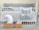Комплект постельный в кроватку Martoo Comfy-Basik 7 / CM-BS-7OR-GR/WT-ST (белый/серый, звезды) -
