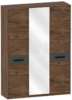 Шкаф Мебельград Глазго 3-х дверный 165x53.5x226.5 (таксония/графит) -
